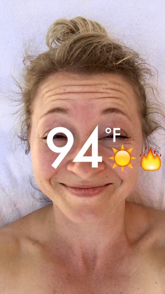 'Twas muy caliente.